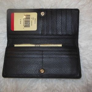 Dooney & Bourke Bags - Dooney & Bourke Long Slim Card Wallet Black /Brown